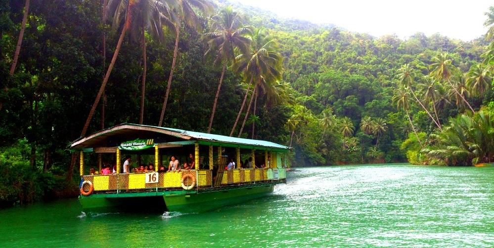 river cruising in Bohol Tour