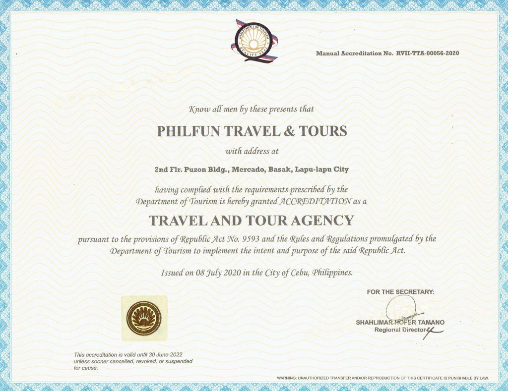 PhilFun Travel Accreditation