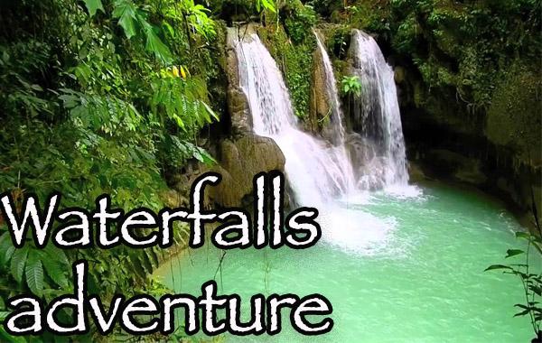 Waterfalls in Bohol adventure